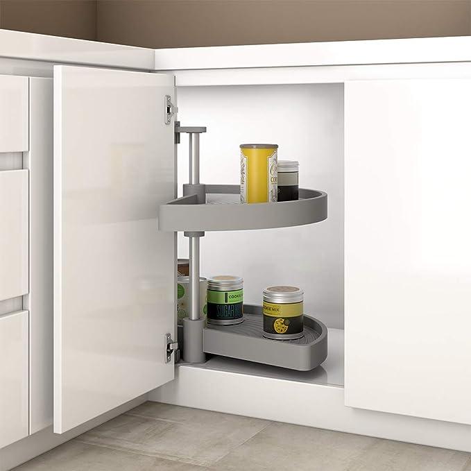 EMUCA - Kit de bandejas giratorias para Mueble de Cocina esquinero ...