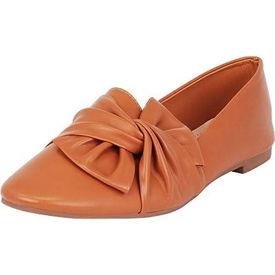Amazon.com | Cambridge Select Women's Slip-On Round Toe Twist Knot Flat Loafer | Shoes