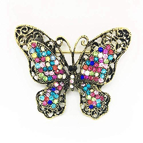 Creative Brooch Pin Brooch Gugin black color Drill large butterfly knot brooch personality pin Chest Belle Plaine Ornament Alloy Corsage Badge Pin Lapel Pin