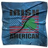 Irish American Flag Women's Fashion Print Square Scarf Neckerchief Headdress S