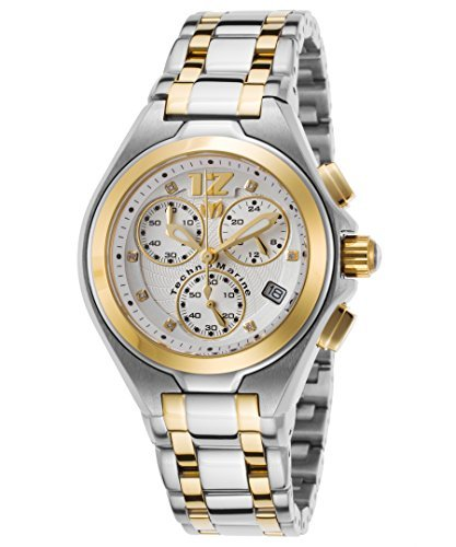 Technomarine Tm-215021 Women's Manta Neo Classic Diamond Chrono Two-Tone Ss Gold-Tone Accents Watch