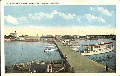 View Of The Waterfront Fort Myers, Florida Original Vintage - Myers Stores Fort