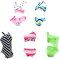1b8a763269 E-TING Swimsuits Doll Clothes Bikini One-Piece Swimsuit for Girl Dolls  (Style
