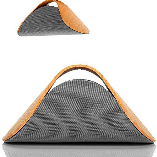 SOMOTOR Bluetooth Speakers, Wood Grain Home Audio CSR 4.0 Super Bass Sound, High end for gentleman S618