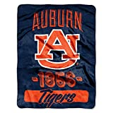 "NCAA Auburn Tigers Varsity Micro Raschel Throw, 46"" x 60"""