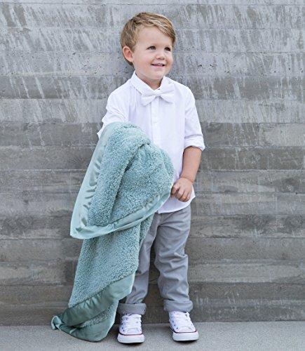 Little Giraffe Chenille Stroller Baby Blanket, Sage, 29