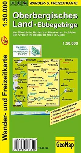 Radwanderkarte Oberbergisches Land 1:50 000 (Geo Map)