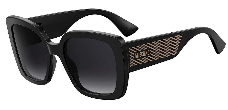 9O dark gray gradient lens Sunglasses Moschino Mos 16 //S 0807 Black