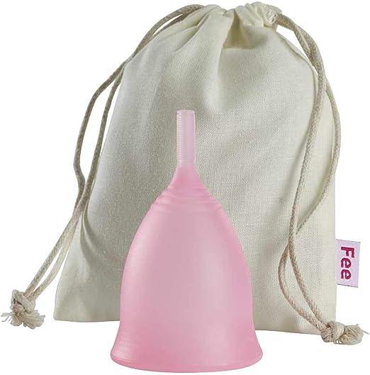 Feecup Copa menstrual FEE CLASSIC, tamaño S, incluye bolsa de tela, silicona médica, hipoalergénica, certificado FDA – una de las más populares tapas ...