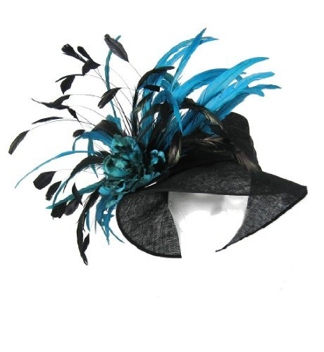 Lime Green Summer Feather Sinamay Fascinator Ascot Derby Hat