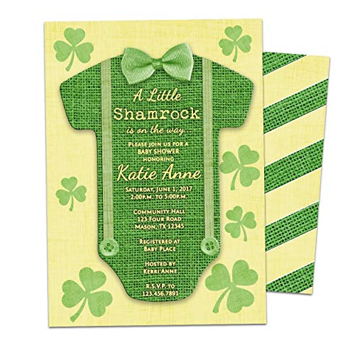Shamrock Baby Shower Invitation Boy St. Patrick's Day Irish
