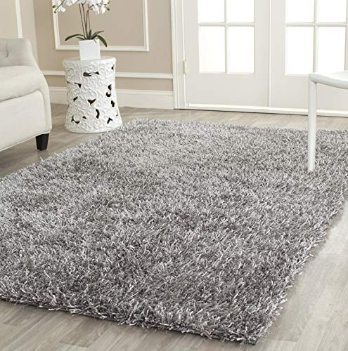 Safavieh New Orleans Shag Collection SG531-8080 Grey Polyester Area Rug 5 x 8