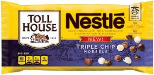 Toll House Nestle Triple Chip Morsels 2- 10 oz bags by Nestle Toll House