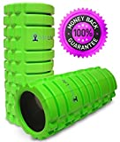 Foam Roller Trigger Point for Muscles Massage. Ideal for Runners, Yoga, Stretching. Use for Back, Legs, Calfs, Arms, Shin splints. Use on IT Band, Deep Tissue, High Density. 13