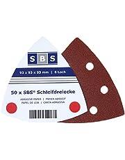 SBS Velcro schuurdriehoek 93x93x93 Delta 50 stuks verschillende korrelgroottes