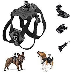 Makit Dog Harness Back Chest Mount With Buckle Screw For Gopro Hero 6gopro Hero 554session Gopro Hero (2018) Xiaoyi Sjcam Action Cameras