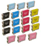 18 Pack Remanufactured Inkjet Cartridges for Epson T098 T099 #98 #99 T098120 T099220 T099320 T099420 T099520 T099620 Compatible With Epson Artisan 700, Artisan 710, Artisan 725, Artisan 730, Artisan 800, Artisan 810, Artisan 835, Artisan 837 (3 Black, 3 Cyan, 3 Magenta, 3 Yellow, 3 Light Cyan, 3 Light Magenta) 18PK by Aria Supplies ®