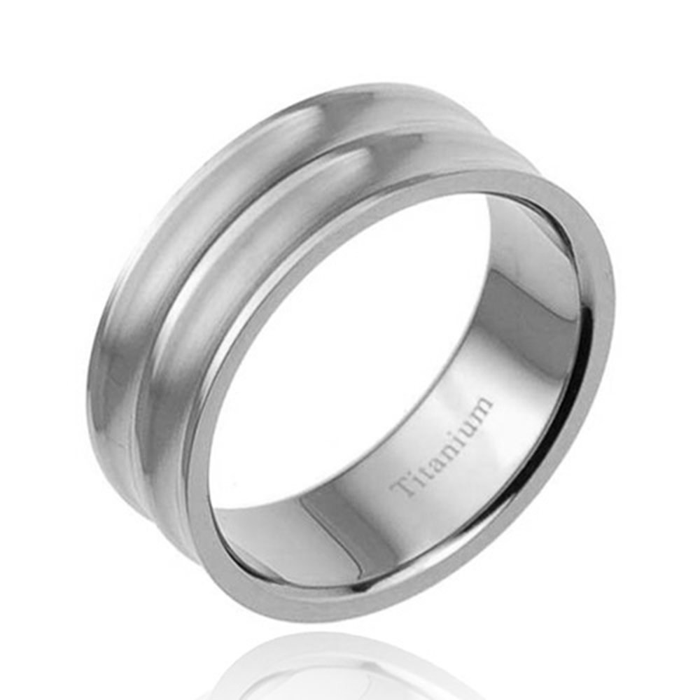 Flamereflection 8mm Men's Titanium Ring Wedding Band Brushed Top Duo Concave Center Fort Fit Size 713 Spj Amazon: Concave Brushed Wedding Band At Websimilar.org