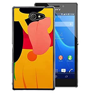 Red-Dwarf Colour Printing Cute Puppy Cartoon Character Yellow - cáscara Funda Case Caso de plástico para Sony Xperia M2