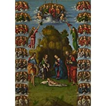 Oil Painting 'Lorenzo Costa-The Adoration Of The Shepherds With Angels,about 1499' Printing On High Quality Polyster Canvas , 12x17 Inch / 30x43 Cm ,the Best Gift For Girl Friend And Boy Friend And Home Decor And Gifts Is This Beautiful Art Decorative Prints On Canvas