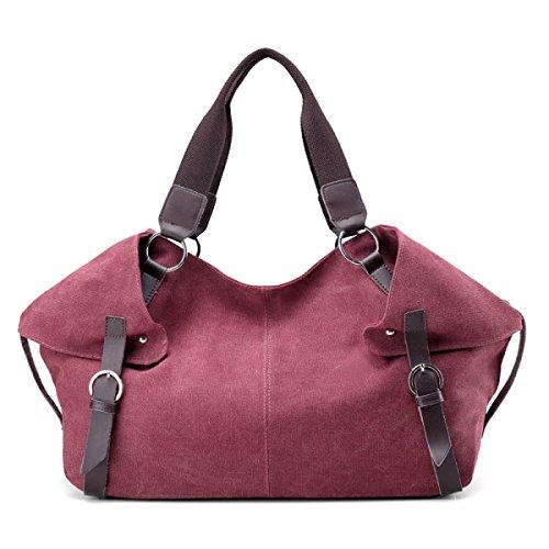 Frauen Jahrgang Leinwand Schulter Aktentasche Messenger Handtasche Schulranzen Sport Tasche ,E-OneSize