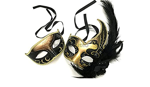 Venetian Silver Red Masquerade Mask Show Girl Ostrich Feather Eye Mask Costume