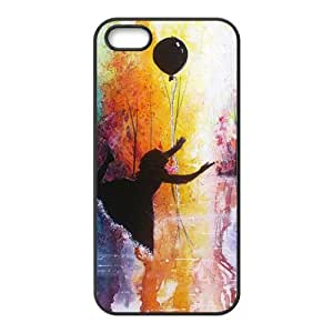 Girl and balloon Phone Case for iPhone 5S(TPU)