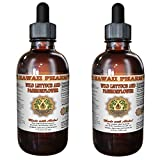 2-in-1! Wild Lettuce & Passion Flower Tincture, ORGANIC Wild Lettuce (Lactuca Virosa) & Passion Flower (Passiflora Incarnata) Liquid Extract, Hawaii Pharm trusted brand, 2x4 oz