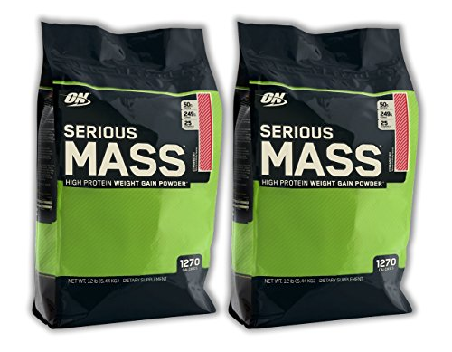 Optimum Nutrition Serious Mass - Strawberry - 12lb (2 Pack)