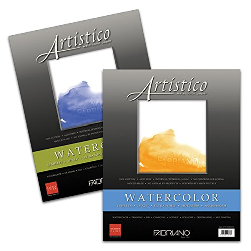 Fabriano Artistico 140 lb. Hot Press 5-Pack 16x20'' - Extra White by Fabriano Artistico