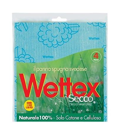 Wettex 102149 Pannospugna Secco, Confezione da 4 Pezzi, Altro, Blu, 18.5x1x20 cm, 10 unità 10 unità