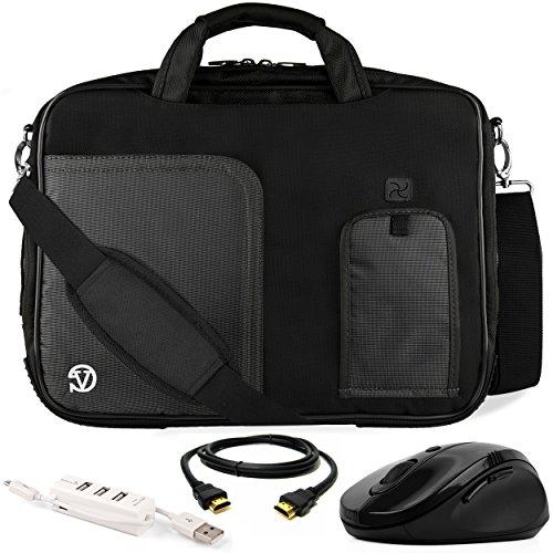 VanGoddy Black Trim Laptop Bag w/ Accessory Bundle for ASUS
