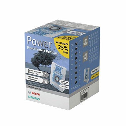 Siemens VZ123GALL Staubsaugerbeutel PowerProtect Type G Allfür alle aktuellen Baureihen, außer VS08..., VS01...