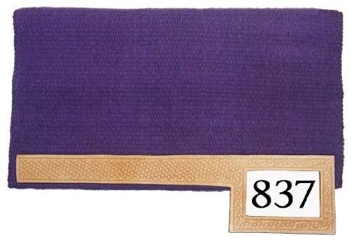 Tahoe Tack Western Trophy Show Saddle Pad With Number Slot, Purple, 36