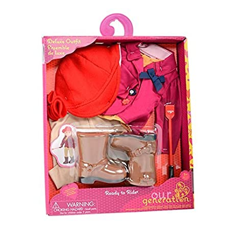 Amazon.com  Our Generation Dolls Ready To Ride Doll Deluxe Riding ... 170ae9a5916c6