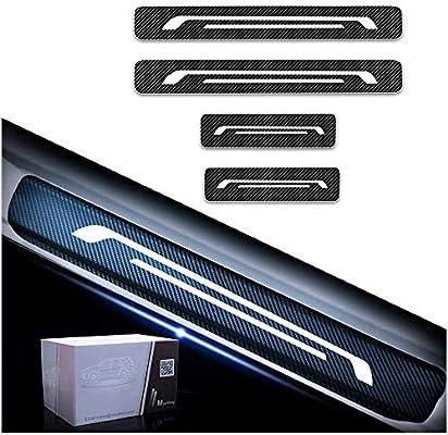 Tuqiang Car Decoration Door Sill Scuff Plate Door Sill Protectors 4D Carbon Fiber Sticker 4Pcs for XF XE X-Type
