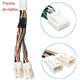 amazon com toyota auxiliary input adapters audio video auxillary adapter yomikoo y cable radio wiring harness for usb adapter cd changer navigation device