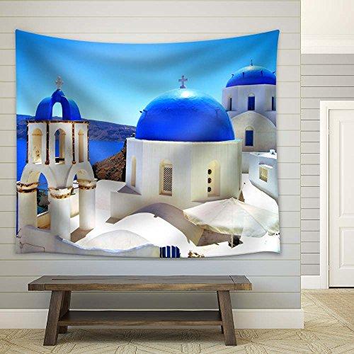 Blue Domed Church in Greek Islands Santorini