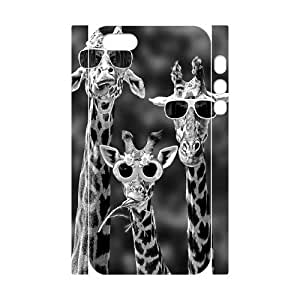 Giraffe DIY 3D Cover Case for Iphone 5,5S,personalized phone case ygtg561720