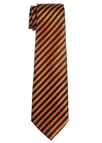 Orange Silk Boys Ties - 6