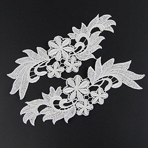 Floral Motifs Boho Lace Applique Trim Sequins Flower