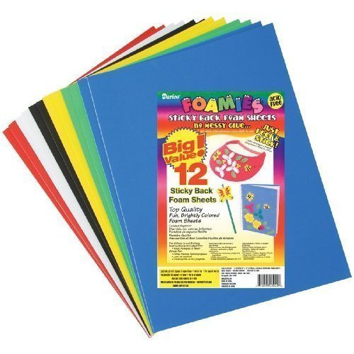 Amazon.com: Sticky Back Foam Sheets (9 x 12 Inches) 12 Per Pack ...