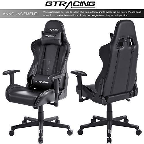 Gtracing Gaming Chair Ergonomic Racing Chair Pu Leather