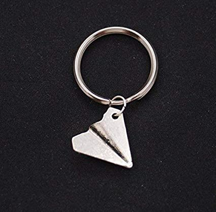 Image Unavailable. Image not available for. Color  Paper Airplane Keychain  ... 75a366f21