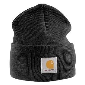 Carhartt Acrylic Watch Cap - Black CHA18BLK Mens Winter Beanie Wool Hat Workwear