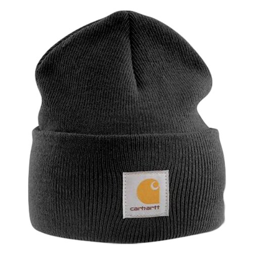 Carhartt - Acrylic Watch Cap - Black Branded Winter Ski Hat, (Carhartt Winter Cap)