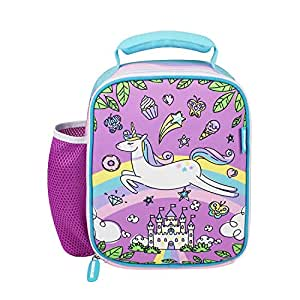 Kids Lunch Bag Girls Baby Unicorn Neo prene Insulated Preschool Day Care Toddler Lunch Box