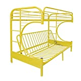 ACME Furniture 02091W-YL Eclipse Futon Bunk Bed, Twin/Full, Yellow