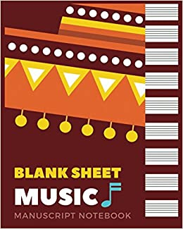Amazon com: Blank Sheet Music Manuscript Notebook: 100 Pages