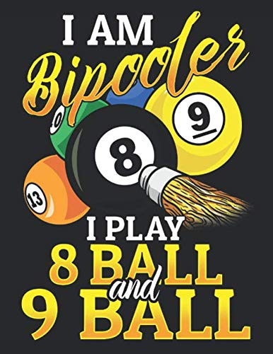 I am Bipooler I Play 8 Ball and 9 Ball: Notizbuch A4 Kariert Lustig Geschenk Tagebuch Journal Buch Pool Billard Snooker Geschenk por Wonderful Dream Picture